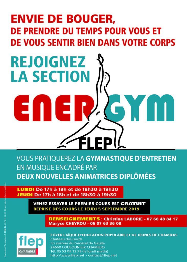 Affiche Energym sport détente